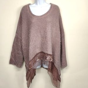 Belle France 3/4 sleeve Mohair blend Sweater